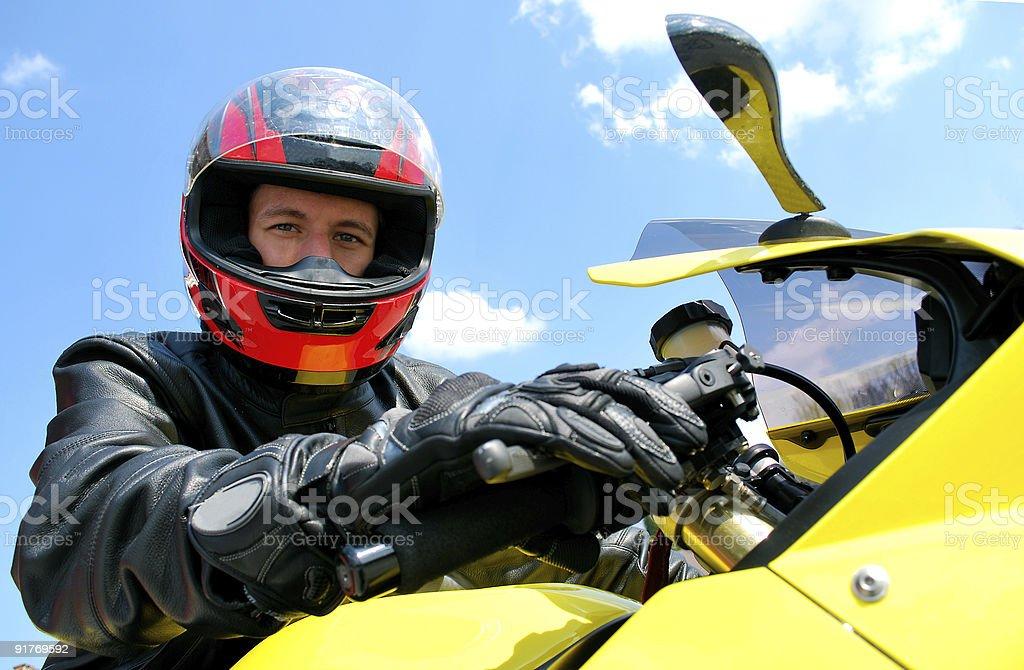 Biker stock photo