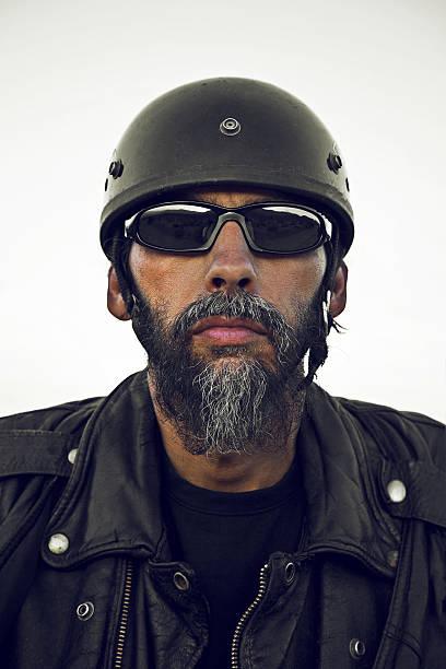 biker portrait - biker stock photos and pictures