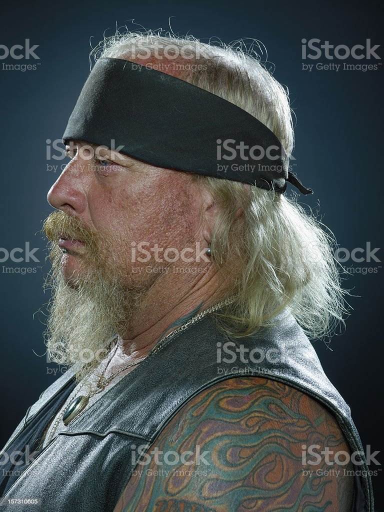 Biker Profile stock photo