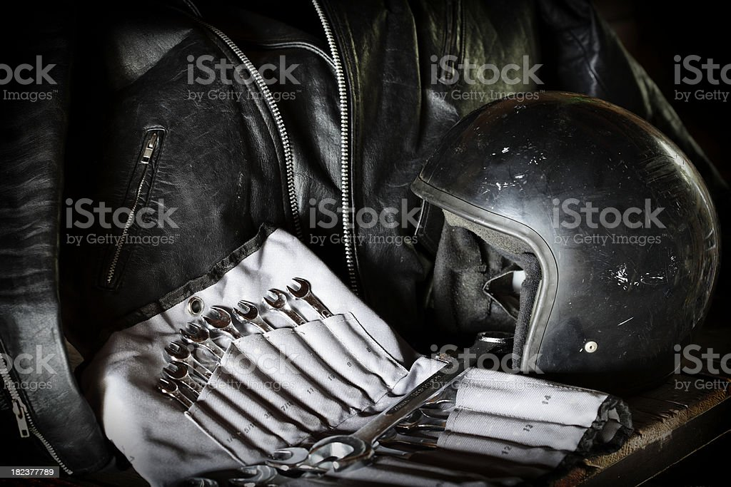 Biker Style Background royalty-free stock photo