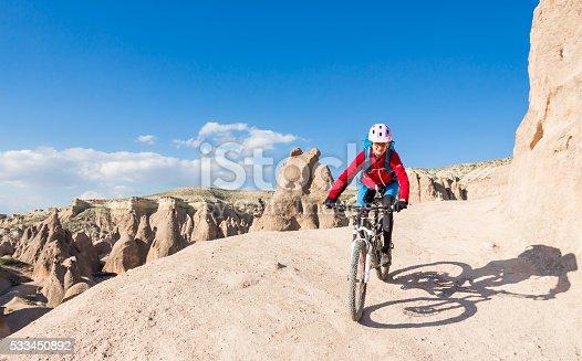 istock Bikeride on Cappadocian Tuff, Turkey 533450892