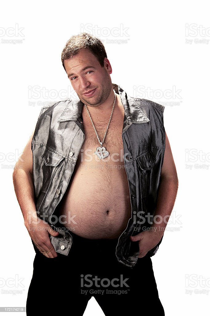 Biker's Belly royalty-free stock photo