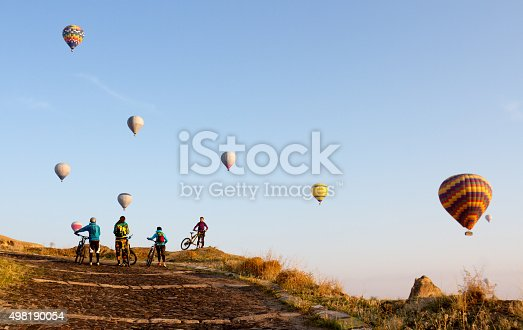 istock Bikes and balloons 498190054