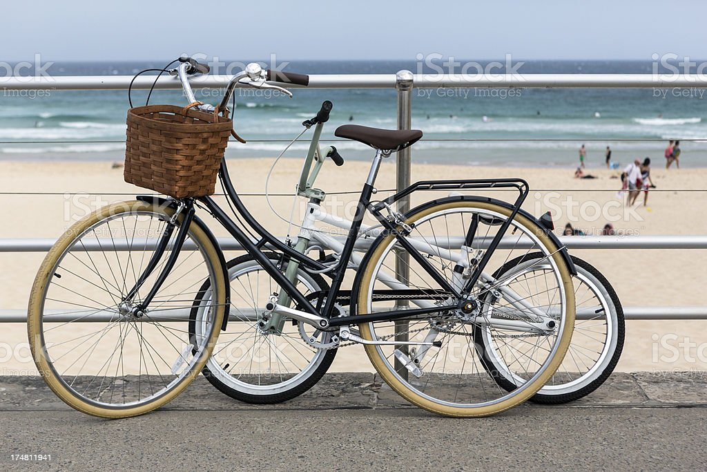 Bikes at the beach royalty-free stock photo