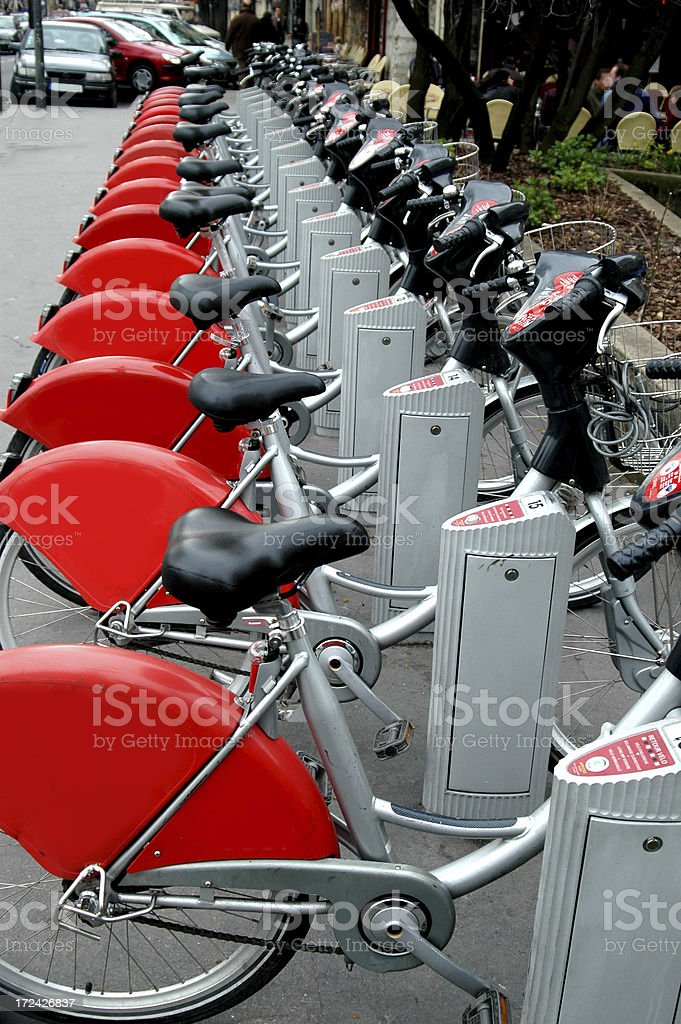 Bikes for hire royalty-free stock photo