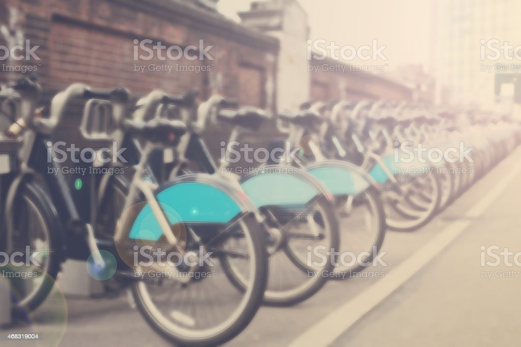 Bikes for rent in London stock photo