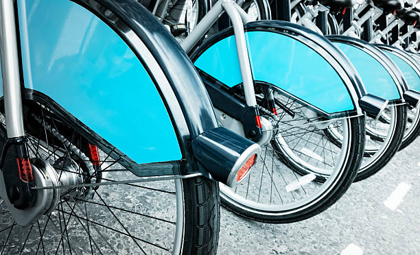 Bikes for Rent, London. stock photo