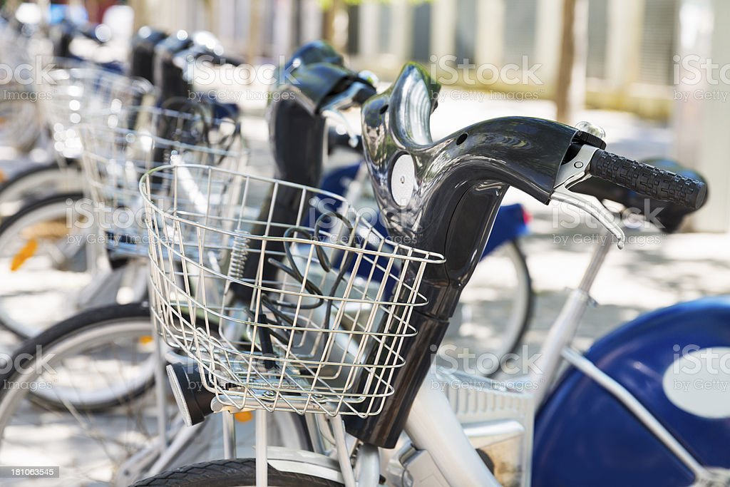 Bikes In A Row royalty-free stock photo