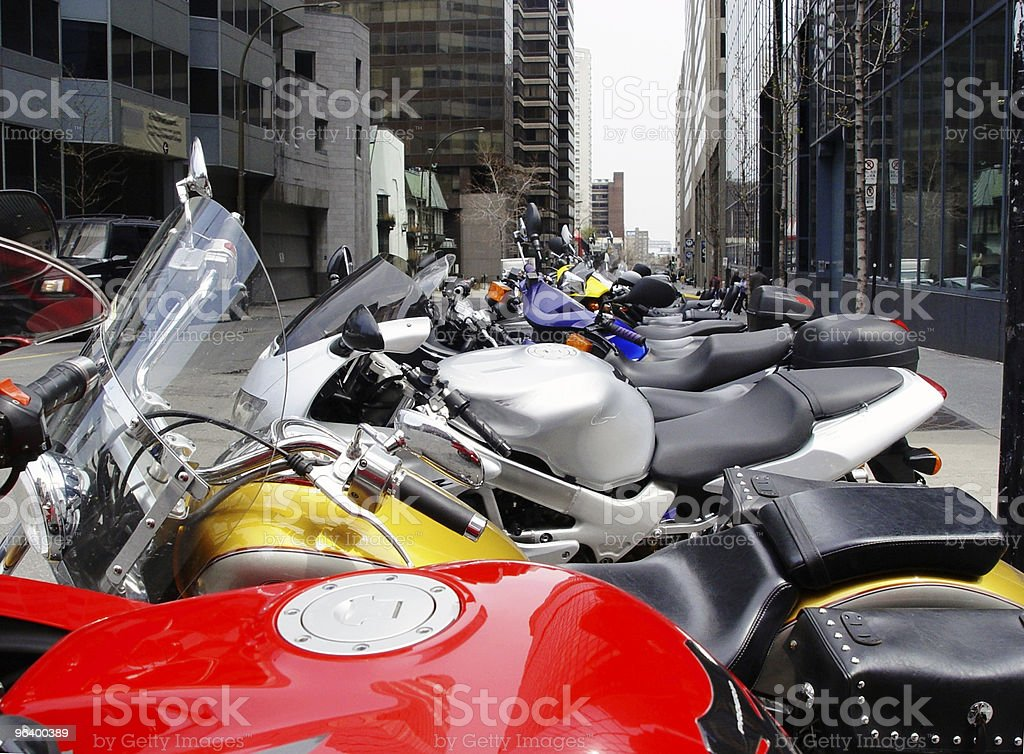 Bikes in a row - Royalty-free Amusement Park Ride Stock Photo
