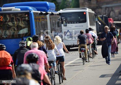 1060957508istockphoto Bikes in city 592027432