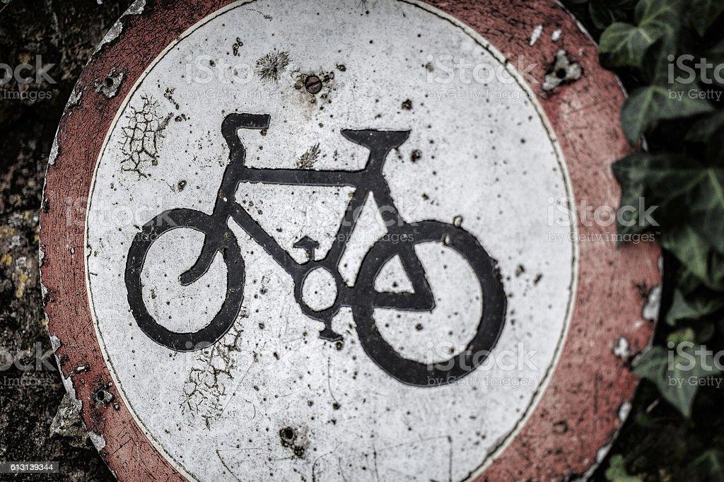 bikes prohibited - foto de acervo