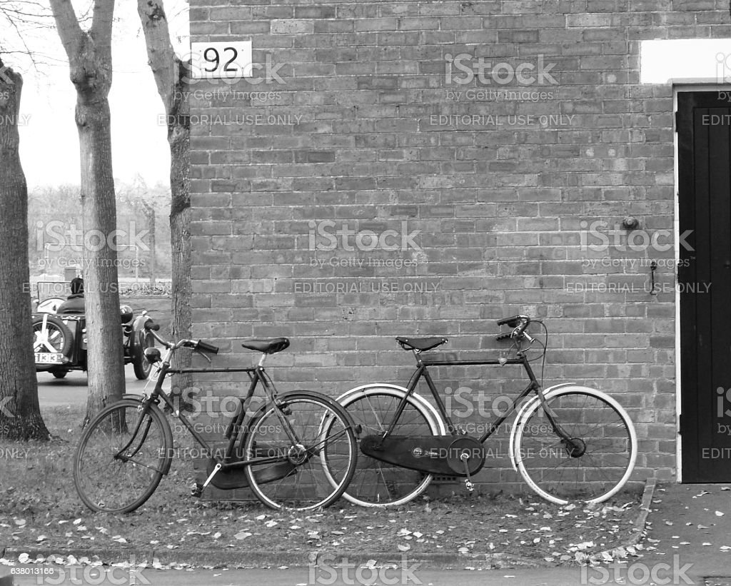 Bikes ready to scramble stock photo
