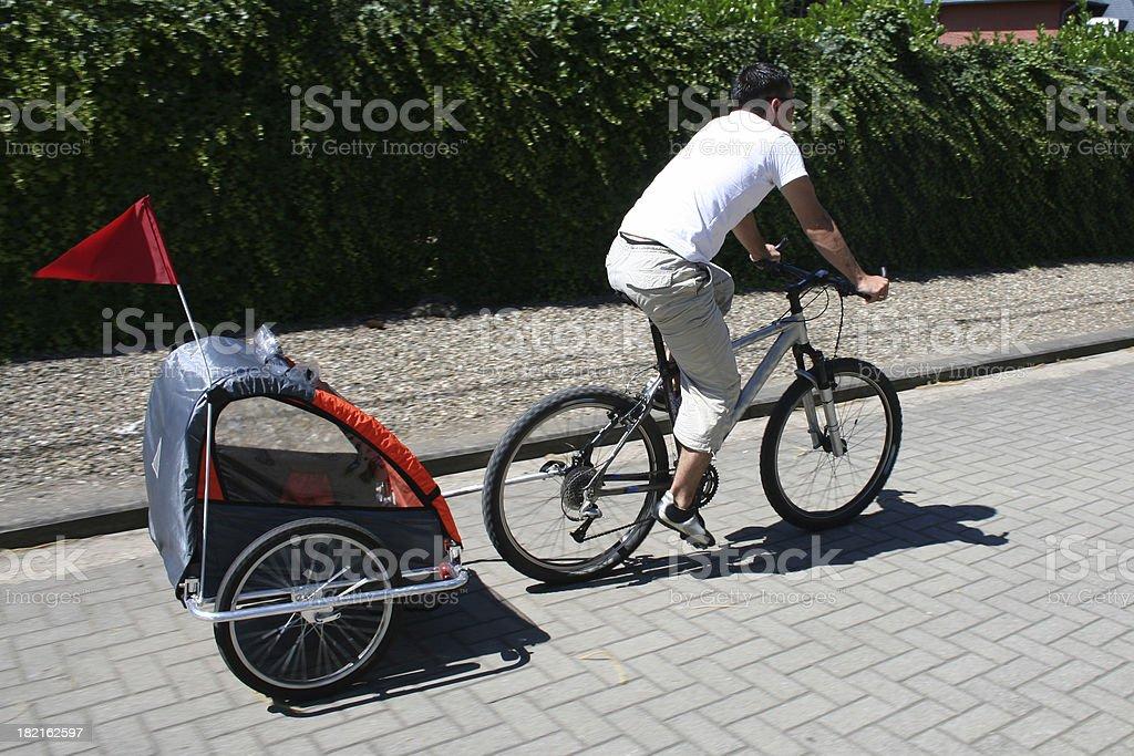 biketrailer royalty-free stock photo