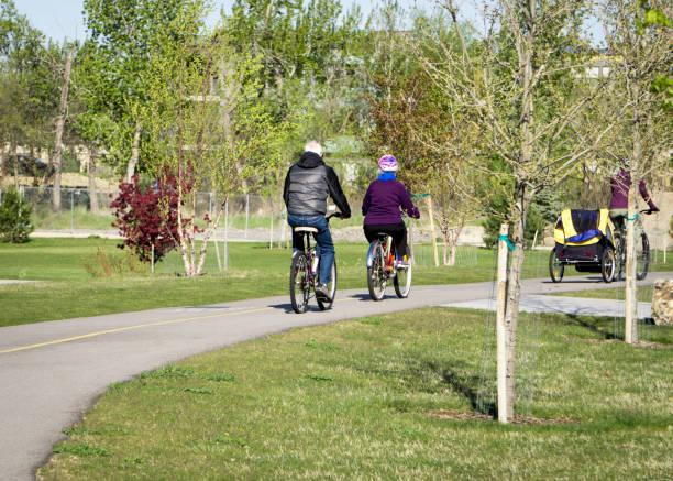 Radfahren entlang der Boise River greenbelt – Foto