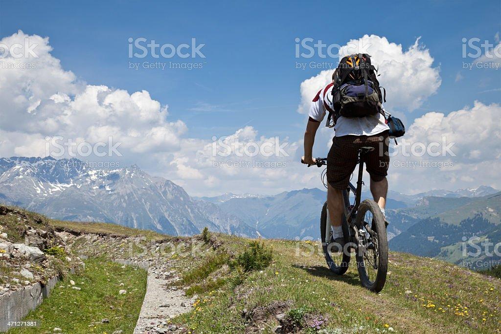 Biking at the old border, South Tyrol royalty-free stock photo