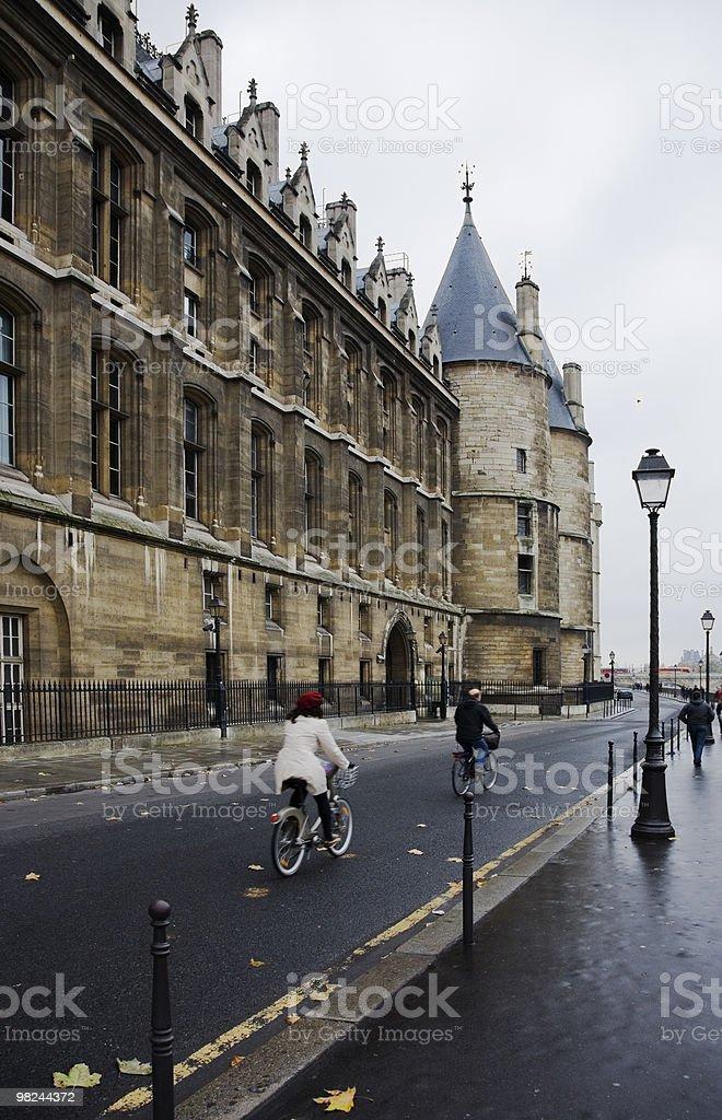 Bicicletta, Ile de la Cité, Parigi foto stock royalty-free