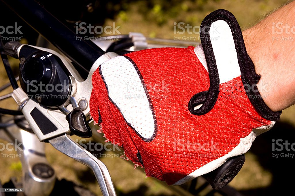 Biking Glove - Space For Text royalty-free stock photo
