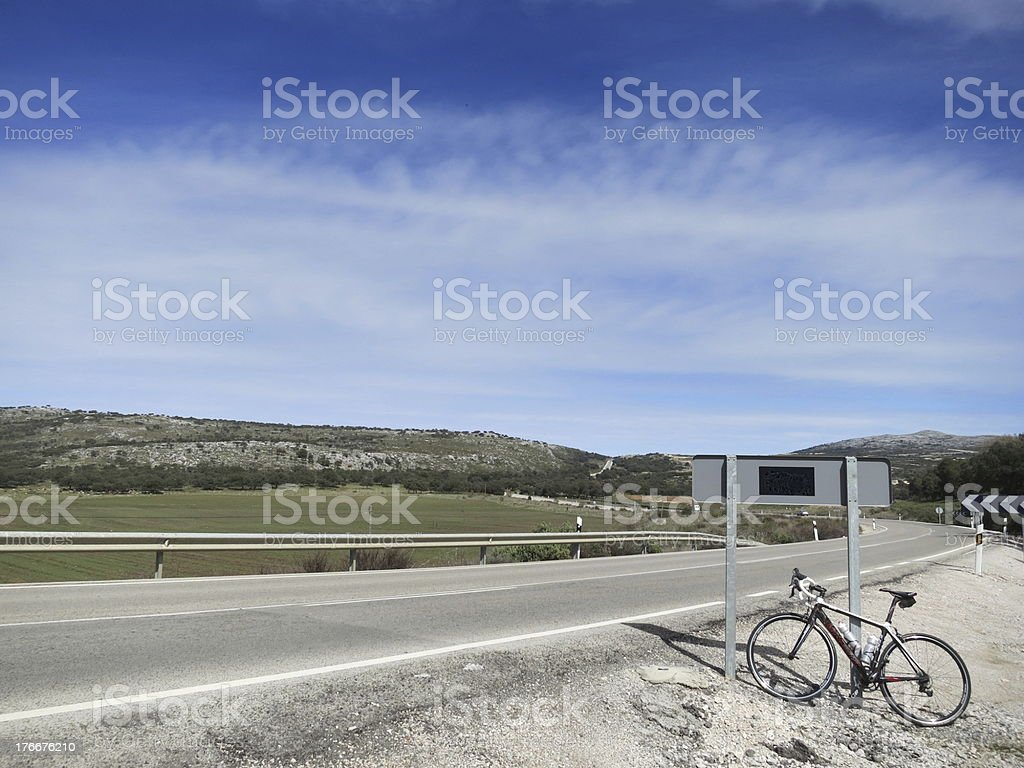 Biking in Andalusia, Spain royalty-free stock photo