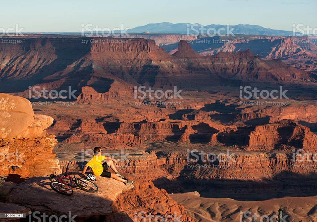 Biking In Dead Horse Point State Park Moab, Utah royalty-free stock photo