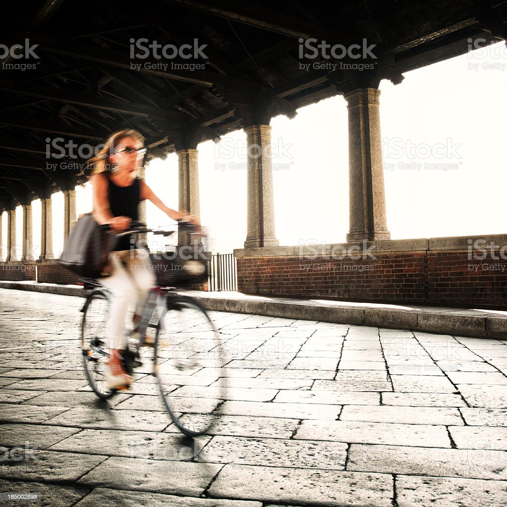 Biking in Italy royalty-free stock photo