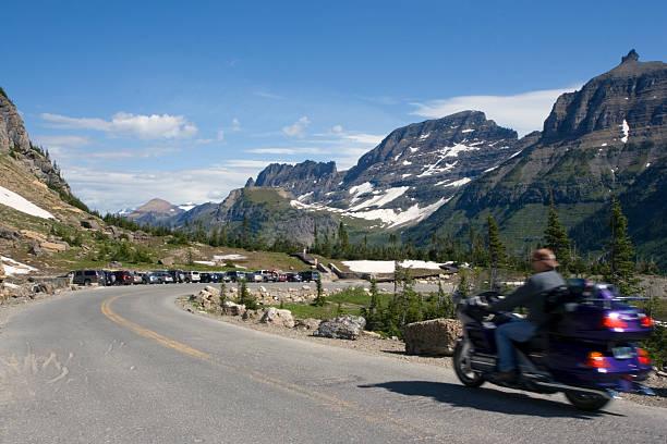 Biking in Montana stock photo