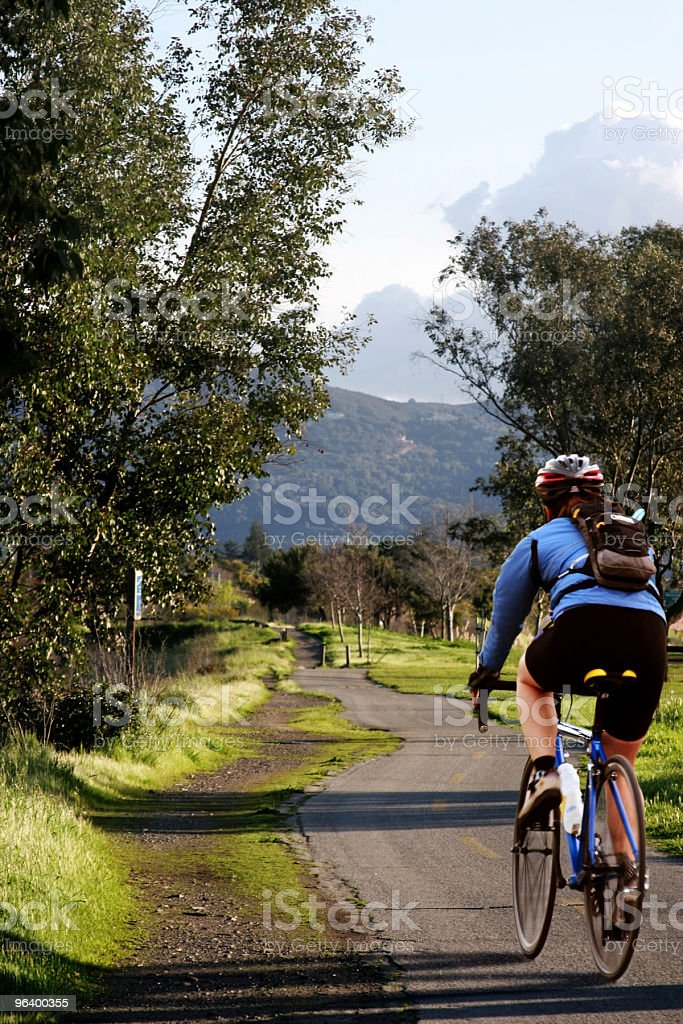 Biking in the park - Royalty-free Activity Stock Photo