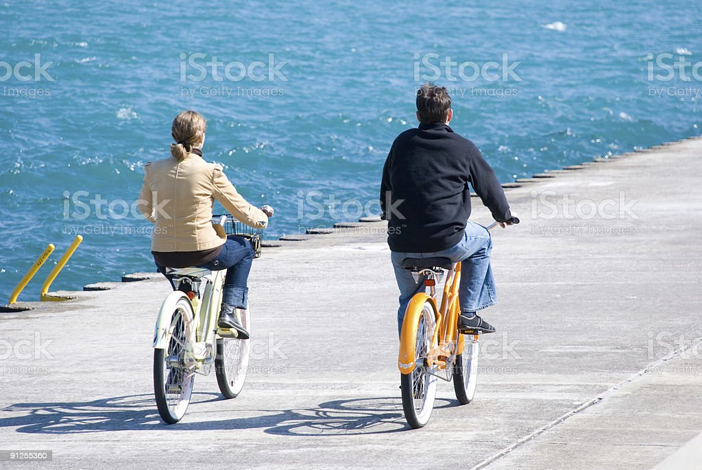 Biking royalty-free stock photo