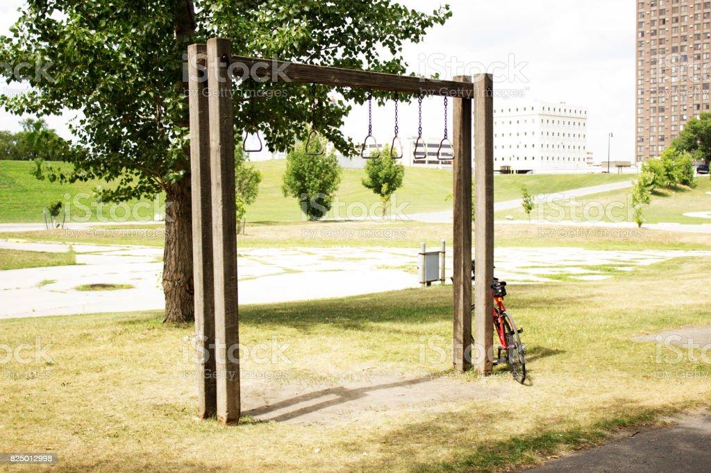 Biking to Exercise stock photo