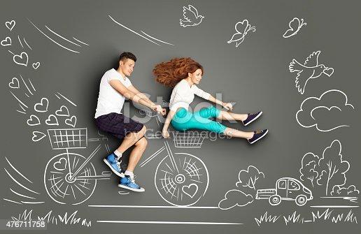 istock Biking to the future. 476711758