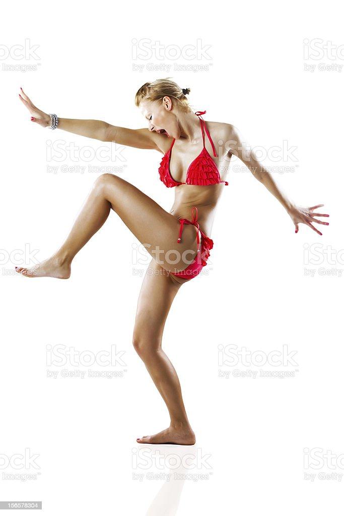 Bikini action royalty-free stock photo