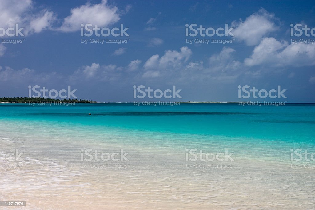 Bikini Atoll Lagoon stock photo