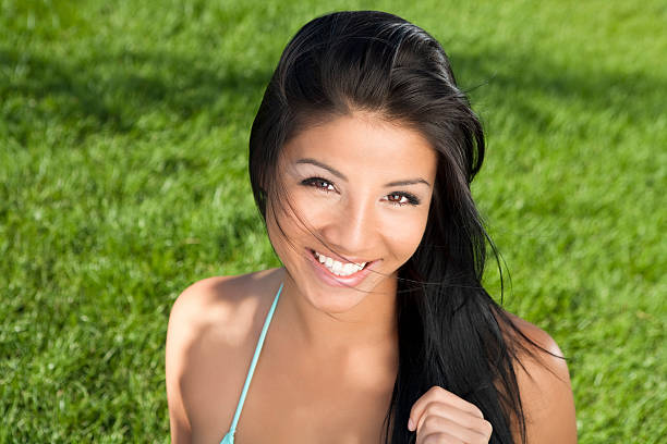Bikini Beauty in the summer stock photo