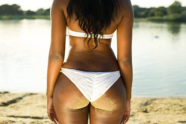 bikini bottom stock photo