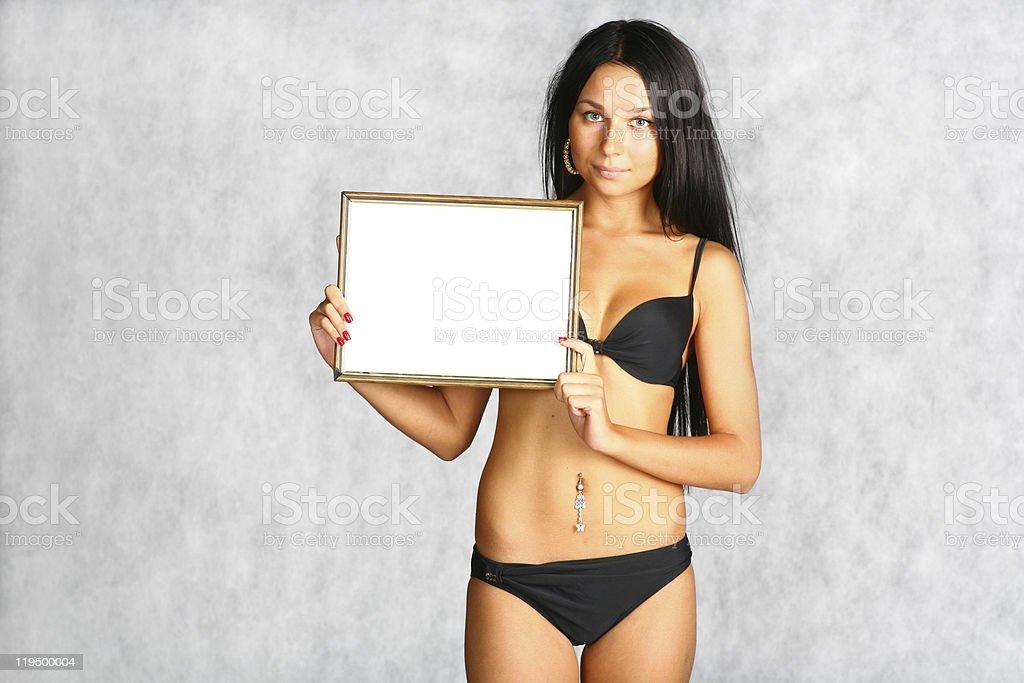 bikini sexy brunette royalty-free stock photo