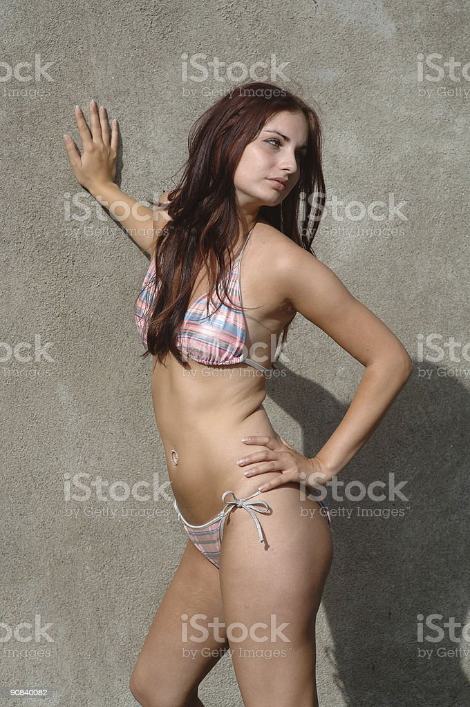 Bikini Supermodel stock photo