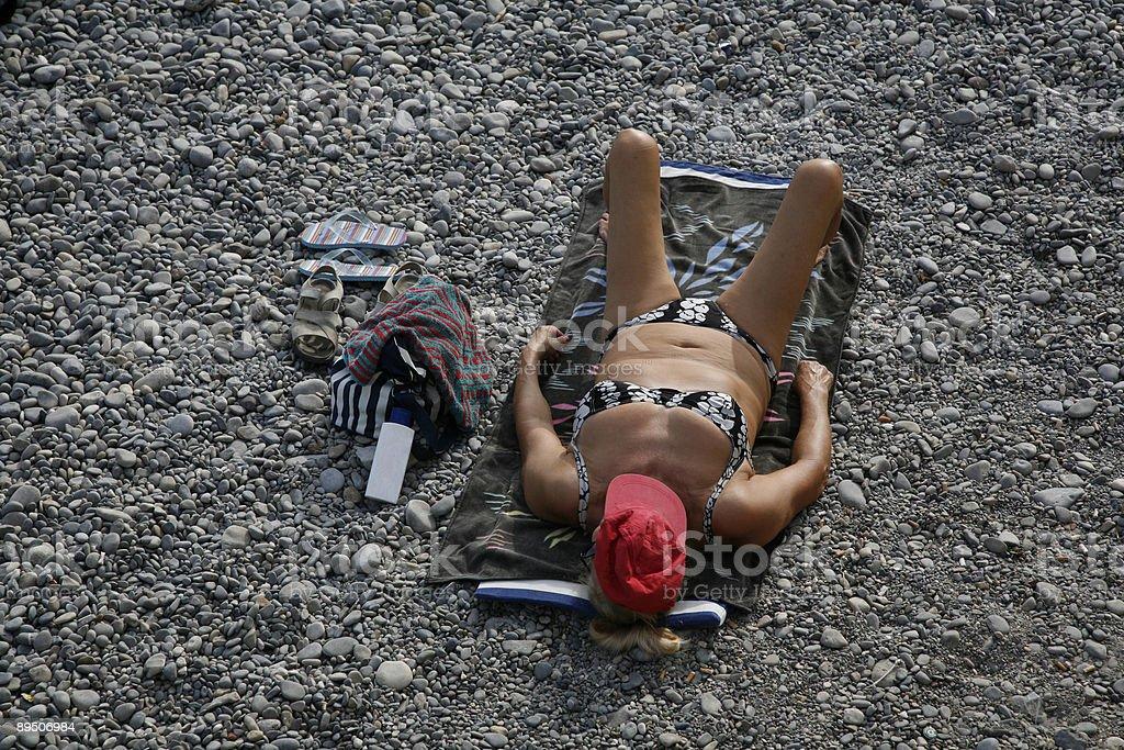 Bikini woman royalty-free stock photo