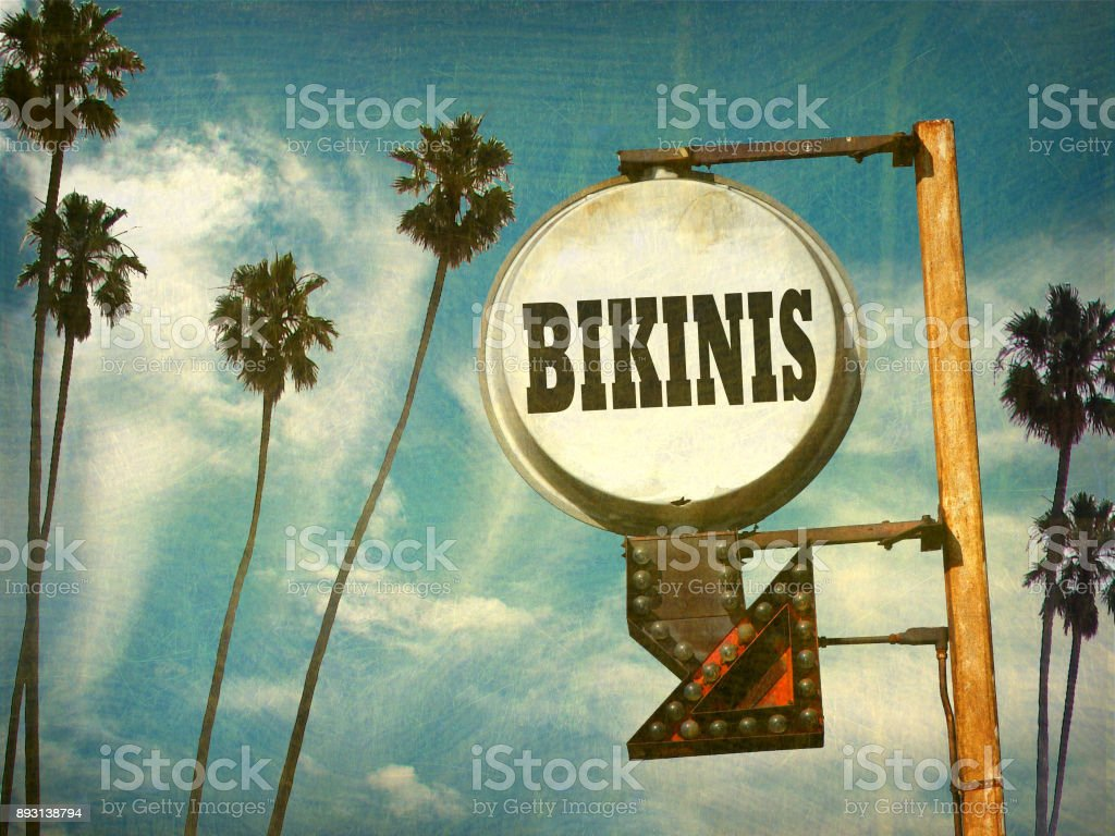 bikinis sign stock photo