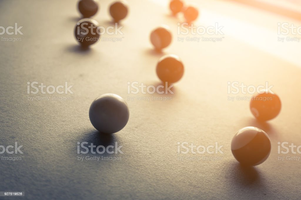 bilard and snooker game with image color tone