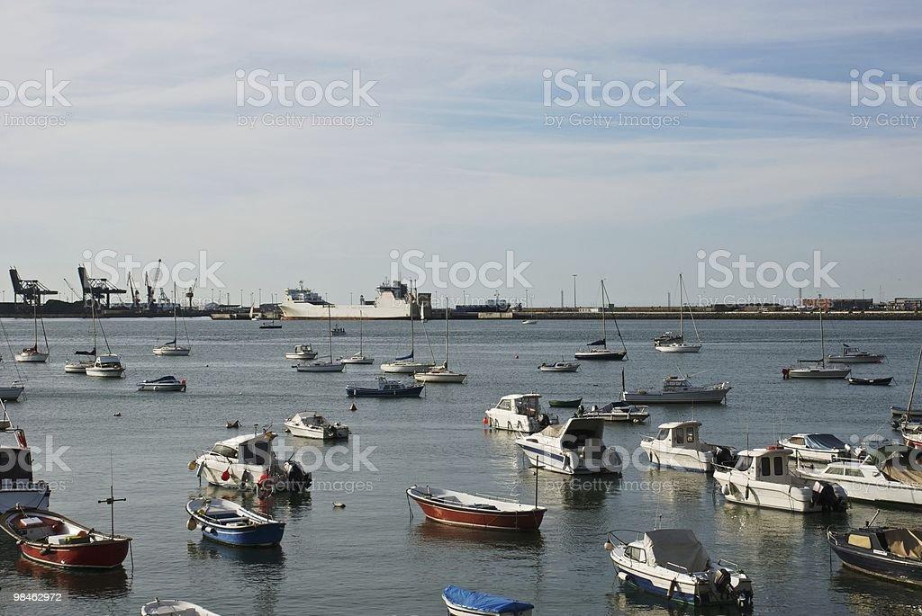 Bilbao Harbour royalty-free stock photo