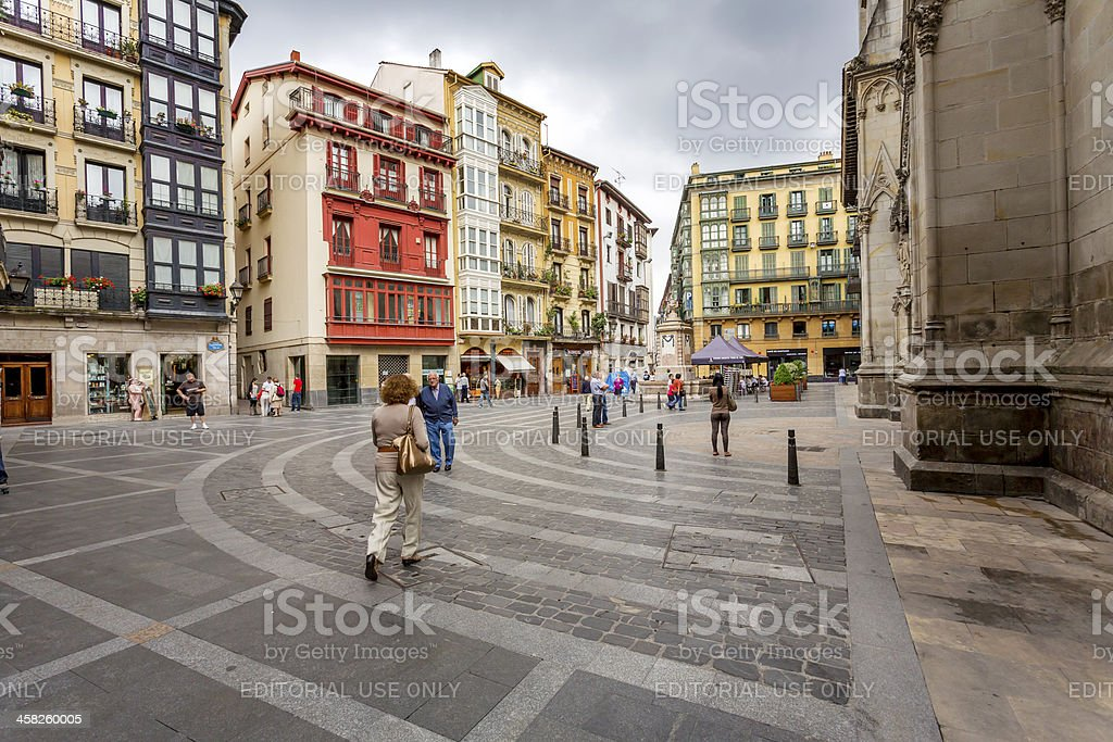 Bilbao's Casco Viejo stock photo