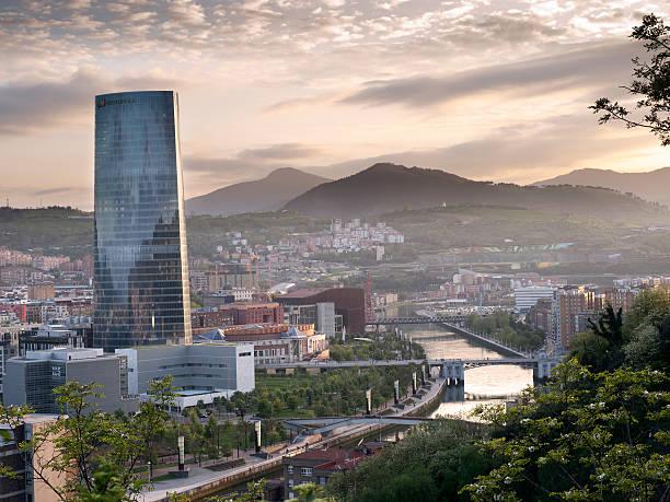 Bilbao's River stock photo
