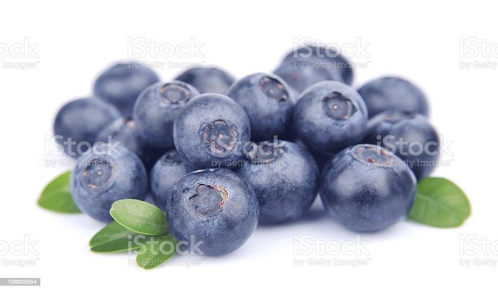 Bilberry con hojas - Foto de stock de Alimento libre de derechos