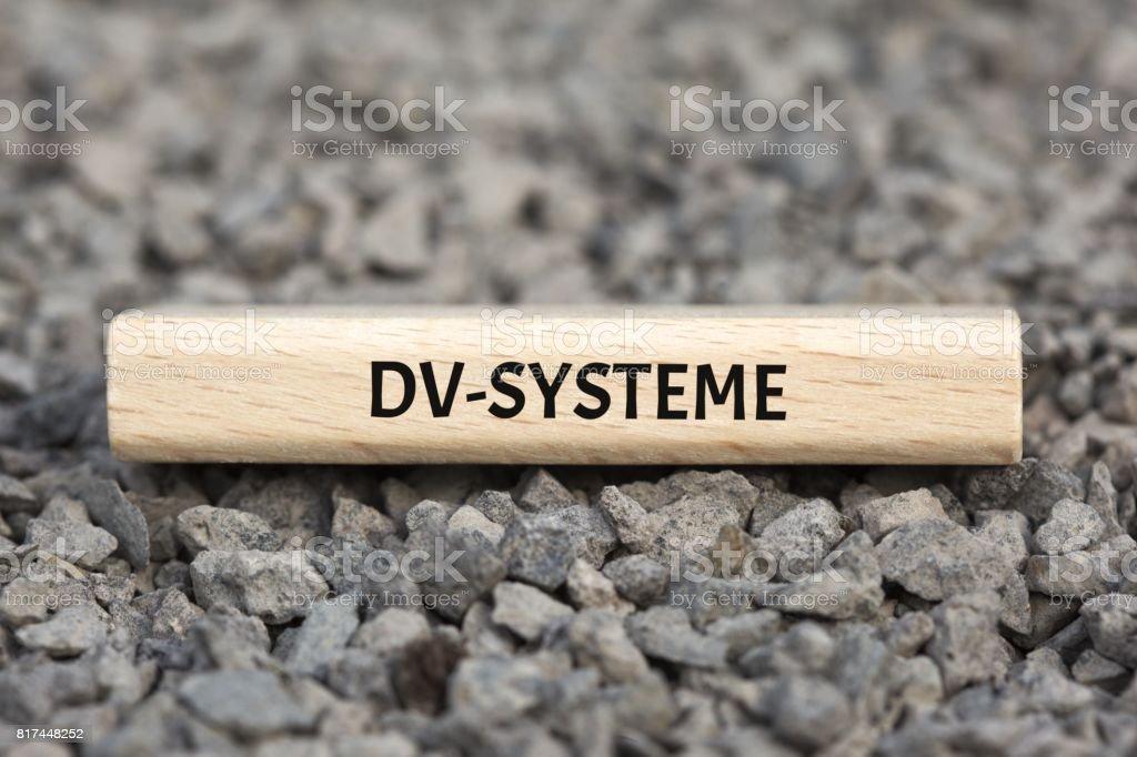 DV-SYSTEME - Bilder mit Wörtern aus dem Bereich Verfahrensdokumentation, Wort, Bild, Illustration stock photo