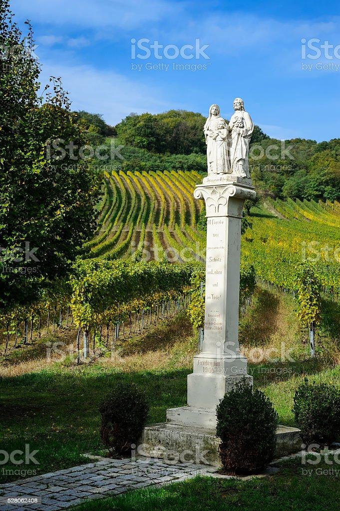 Bildstock Joseph and Mary with Jesus in Weingarten stock photo