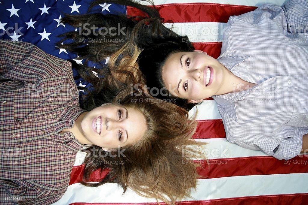 Bilingual America stock photo