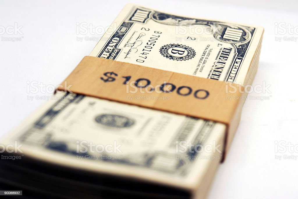 Bill Bank Notes Stack royalty-free stock photo