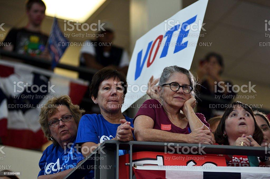 Bill Clinton Rallies for Hillary Clinton in Pennsylania stock photo