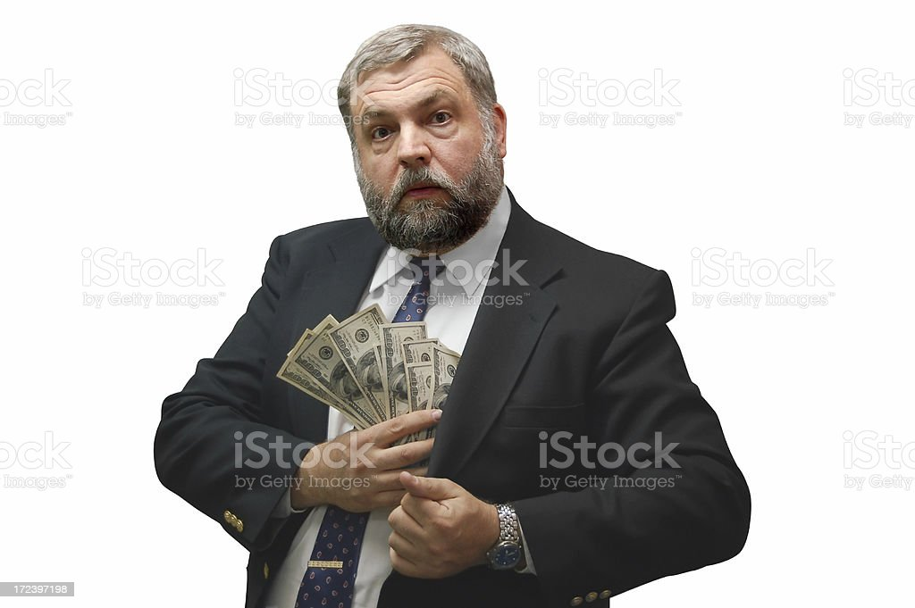 Bill Collector stock photo