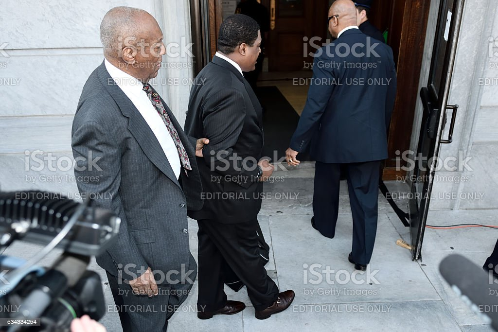Bill Cosby sexual assault case heads to trail royalty-free stock photo