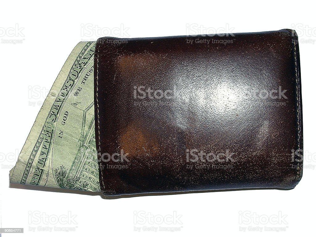 Bill in a Wallet royalty-free stock photo